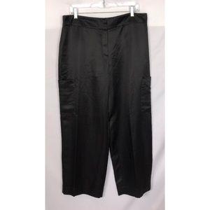 NWT Eileen Fisher 'Satin Organza' Black Pants M